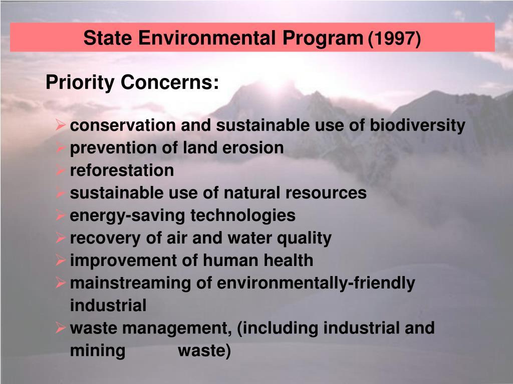 State Environmental Program
