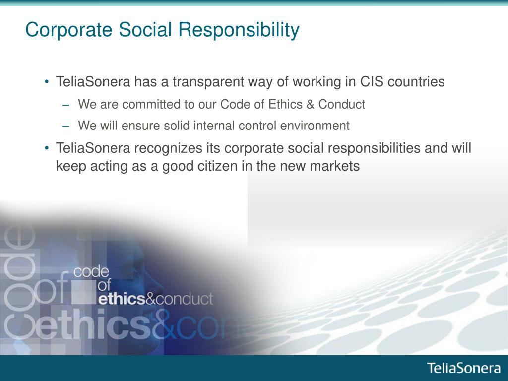 Corporate Social Responsibil
