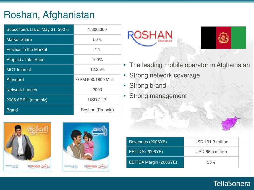 Roshan, Afghanistan