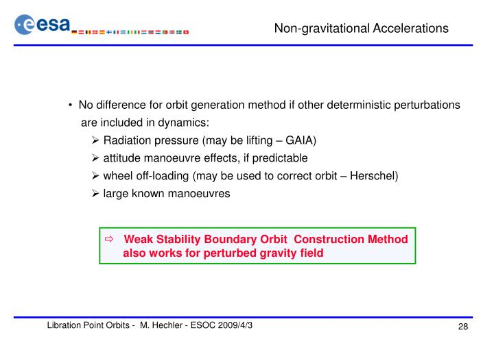 Non-gravitational Accelerations