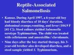 reptile associated salmonellosis23