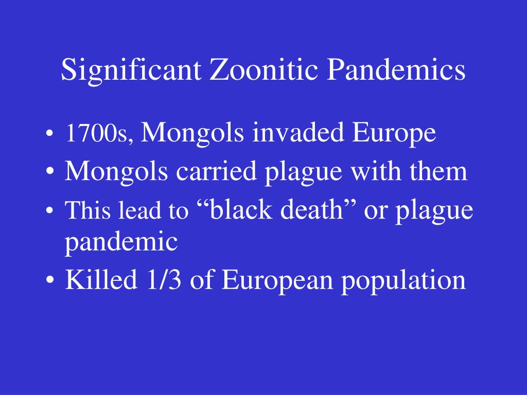 Significant Zoonitic Pandemics