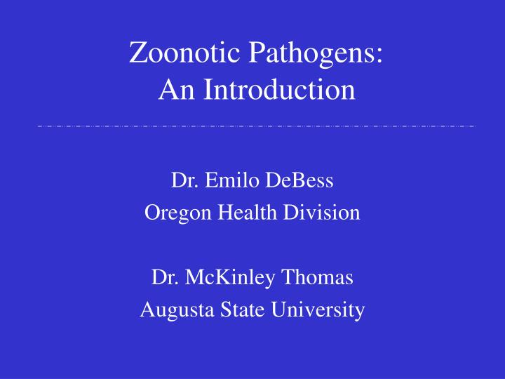 Zoonotic pathogens an introduction l.jpg
