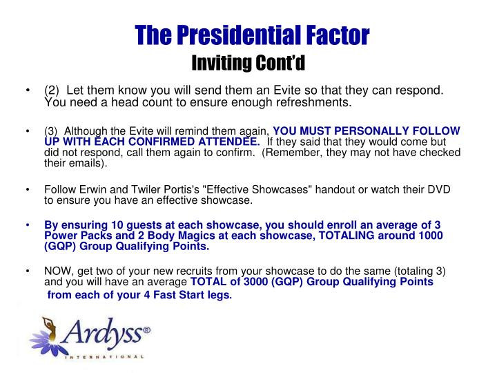 The Presidential Factor