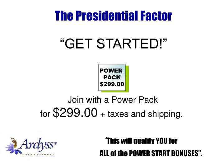 This will qualify you for all of the power start bonuses