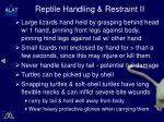 reptile handling restraint ii