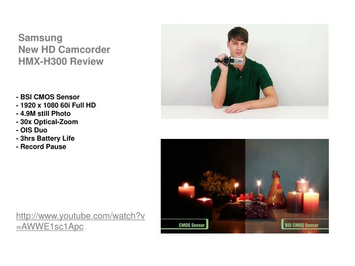 Samsung new hd camcorder hmx h300 review