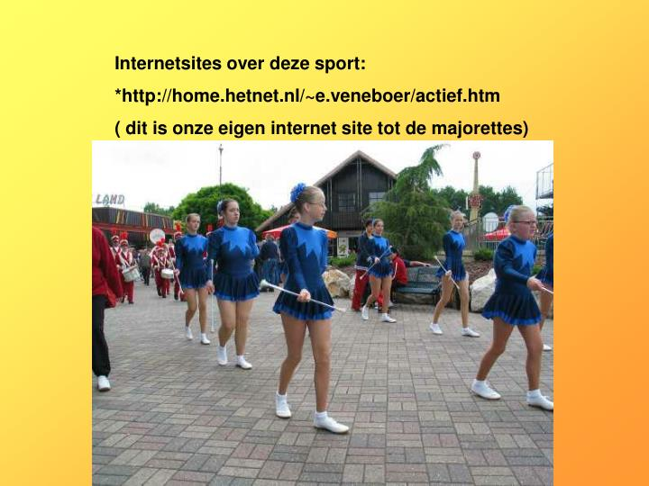 Internetsites over deze sport:
