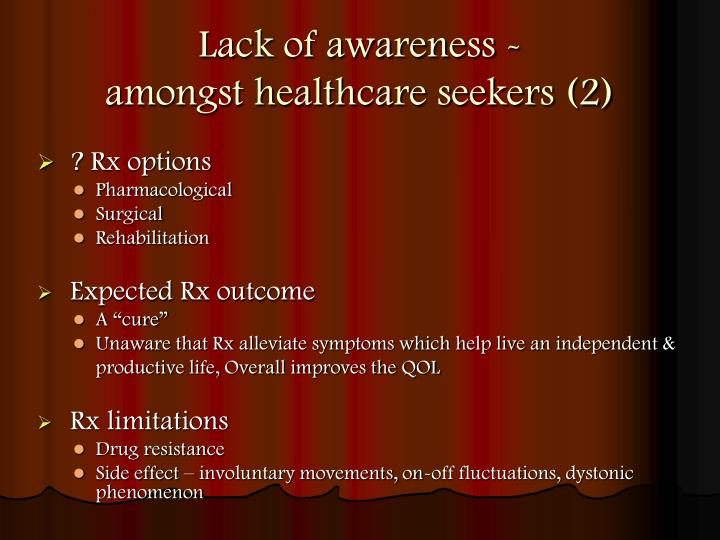 Lack of awareness -