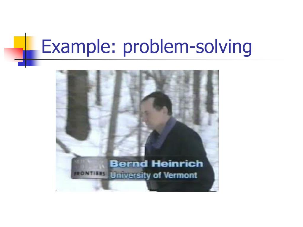 Example: problem-solving