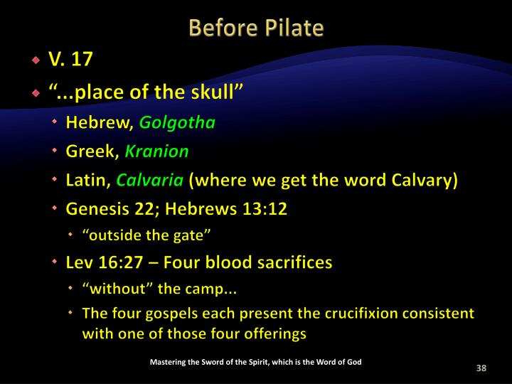 Before Pilate