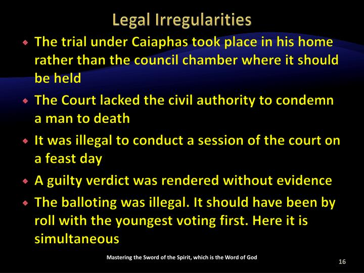 Legal Irregularities