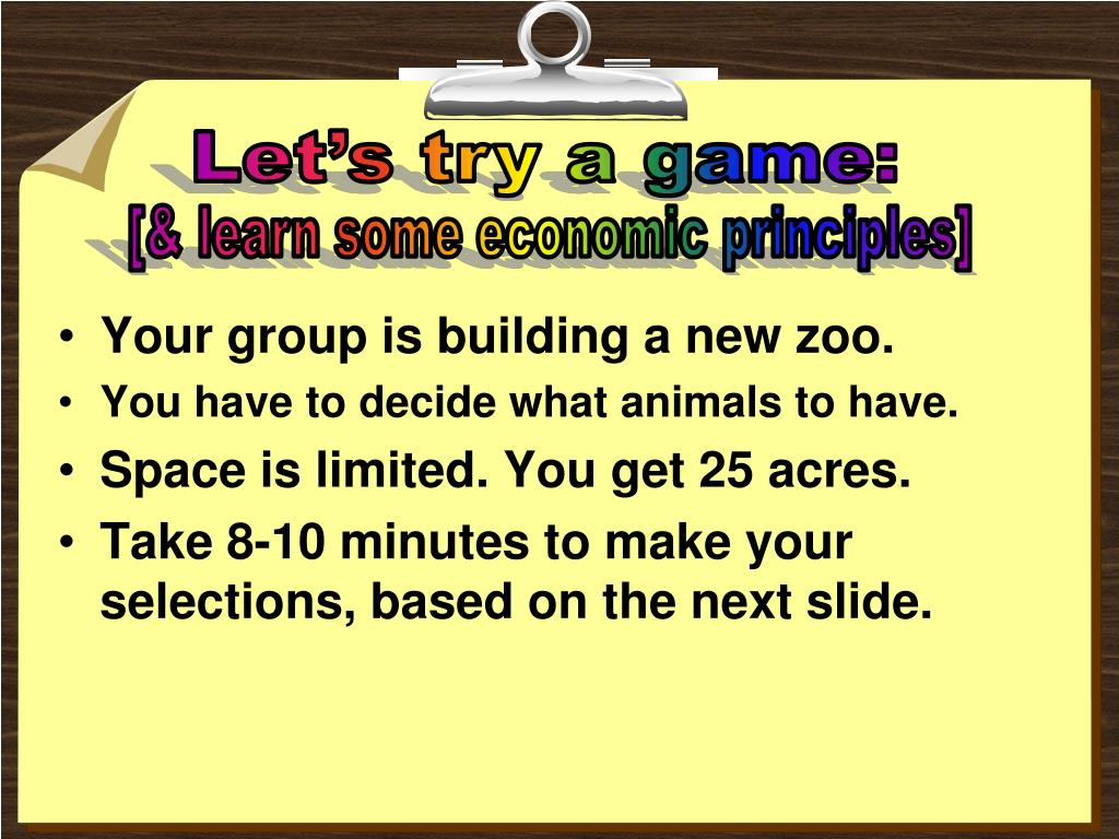 Your group is building a new zoo.