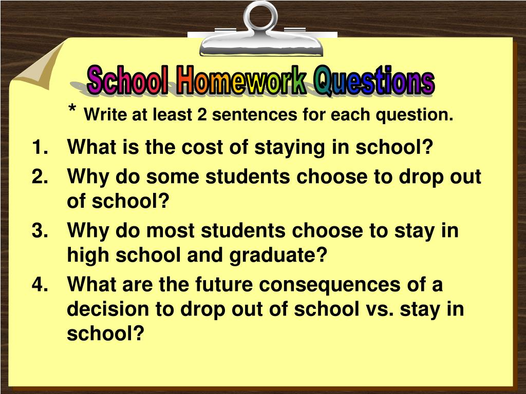 School Homework Questions