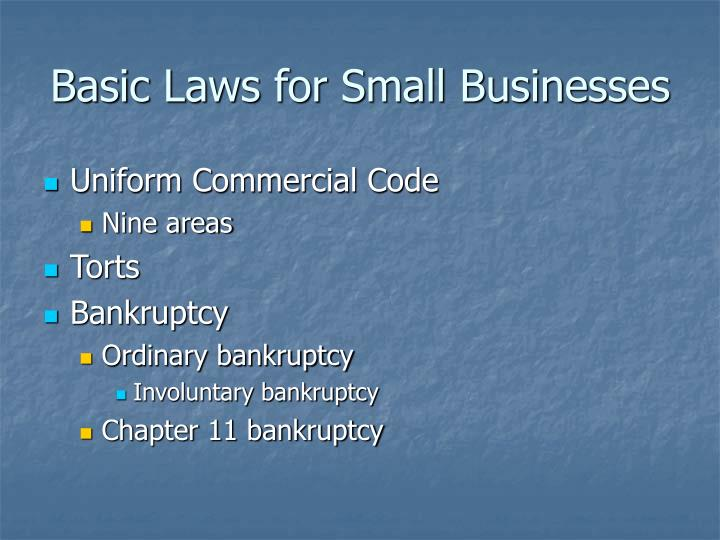 Basic laws for small businesses