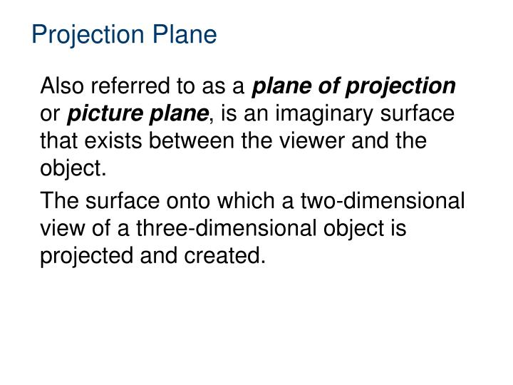 Projection Plane