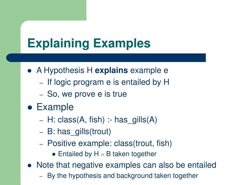 Explaining Examples