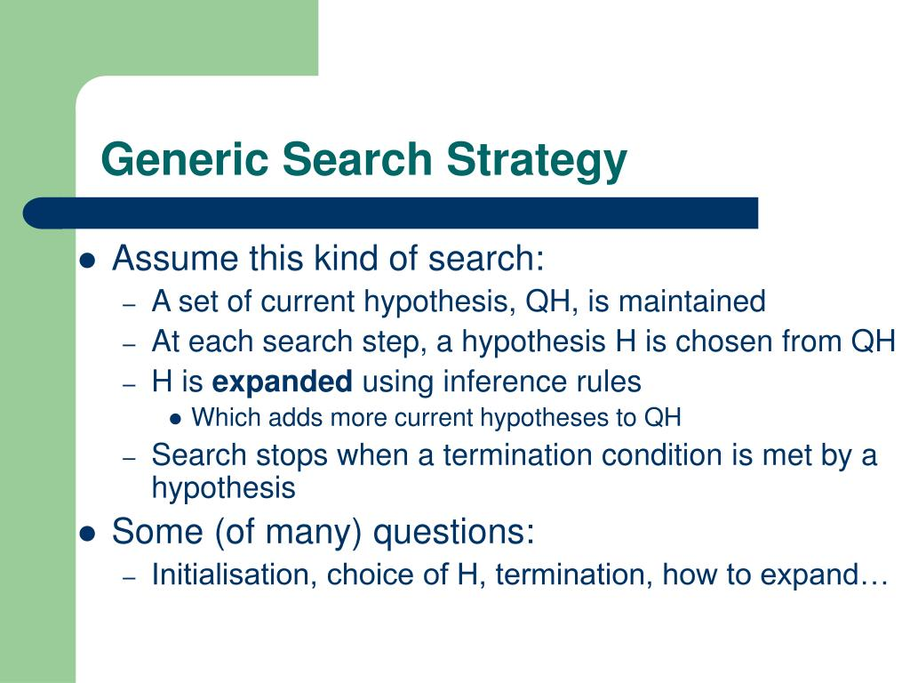Generic Search Strategy