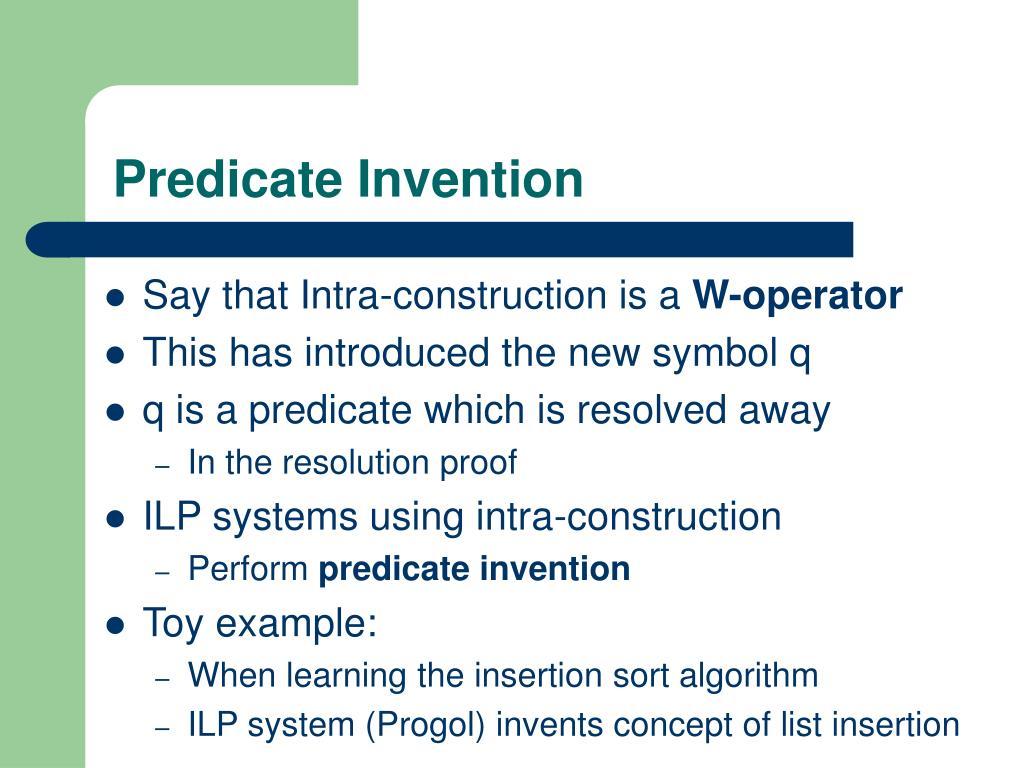 Predicate Invention