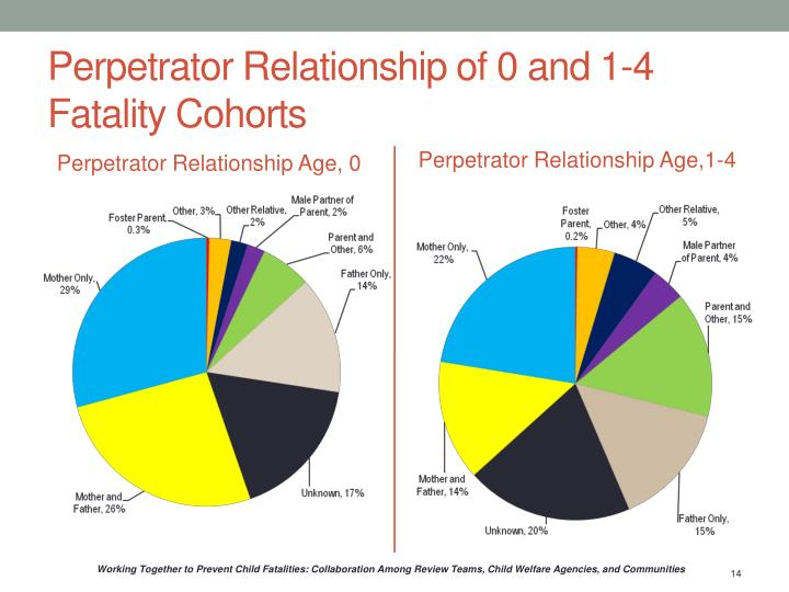 Perpetrator Relationship of 0 and 1-4 Fatality Cohorts