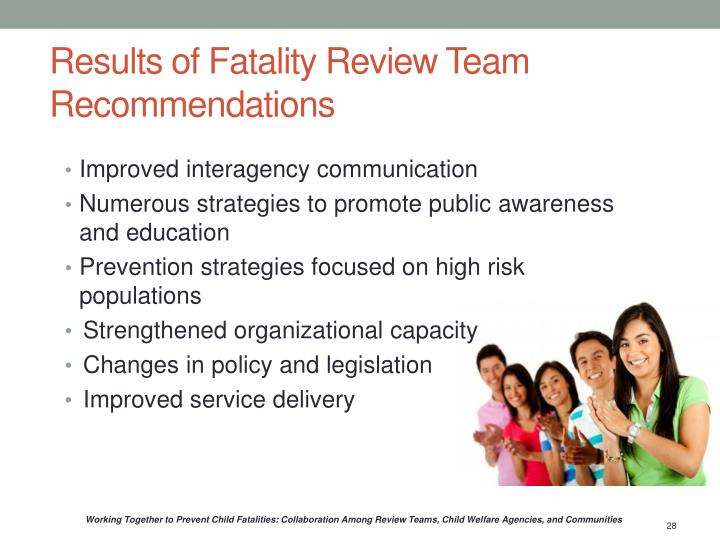 Results of Fatality Review Team Recommendations