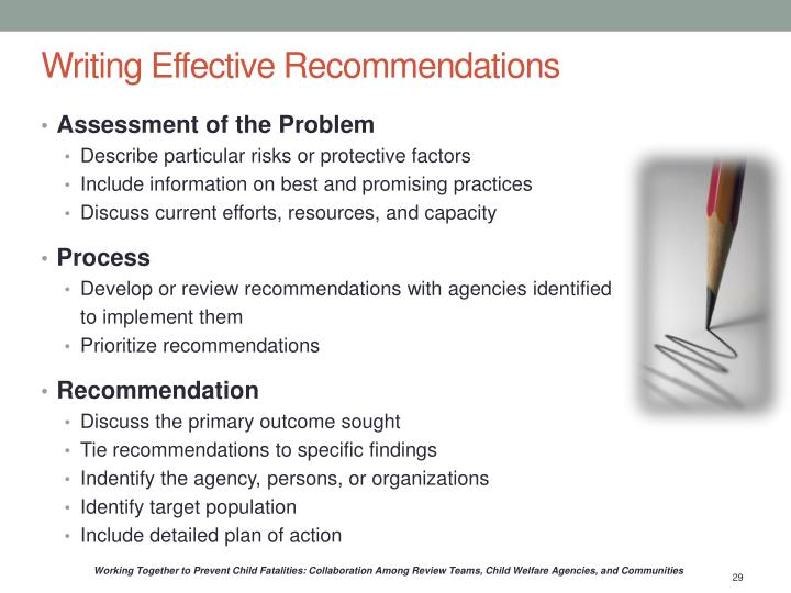 Writing Effective Recommendations