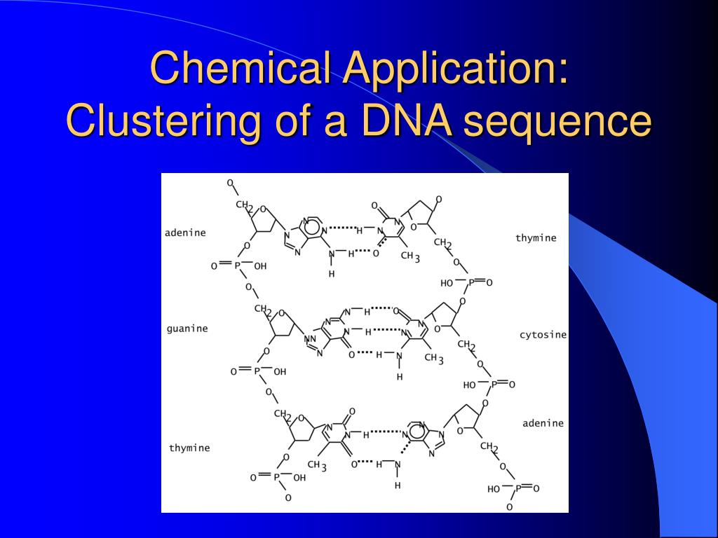 Chemical Application: Clustering of a DNA sequence