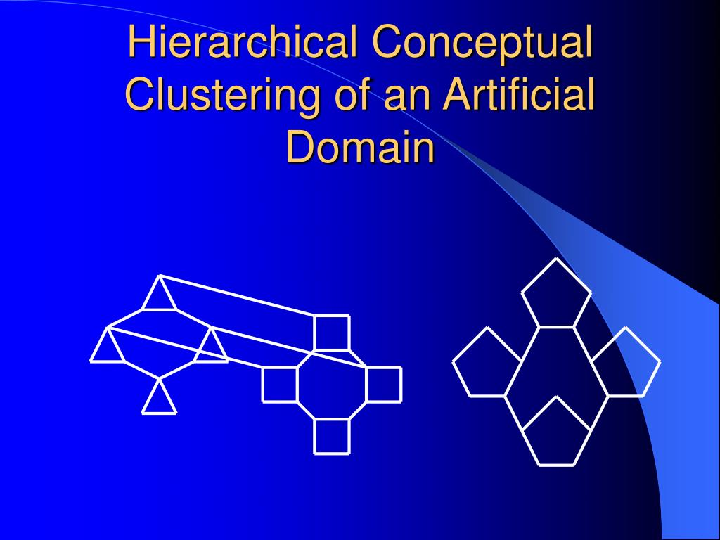 Hierarchical Conceptual Clustering of an Artificial Domain