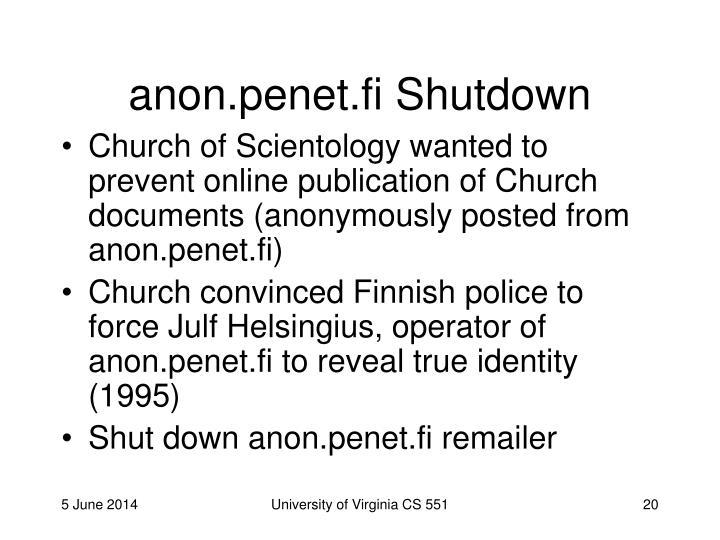 anon.penet.fi Shutdown