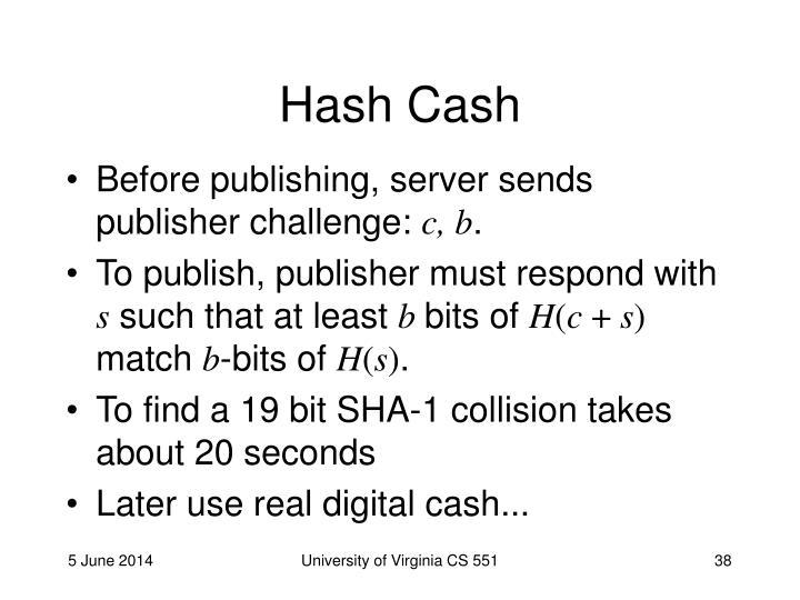 Hash Cash