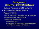 background history of current outbreak1