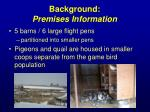 background premises information1