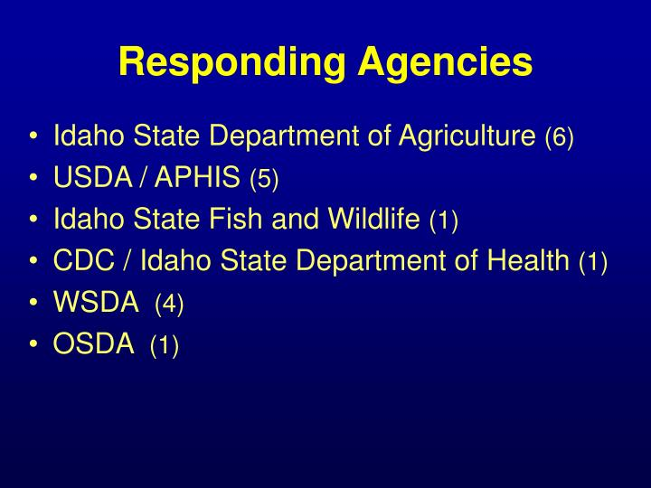 Responding Agencies