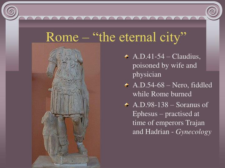 "Rome – ""the eternal city"""