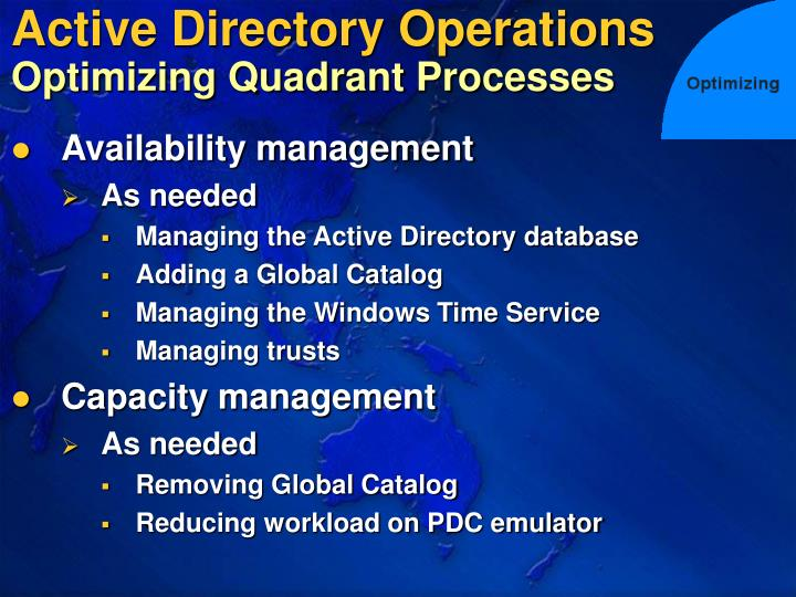 Active Directory Operations