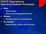 dhcp operations operating quadrant processes