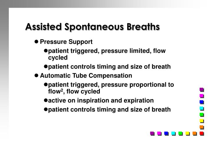 Assisted Spontaneous Breaths