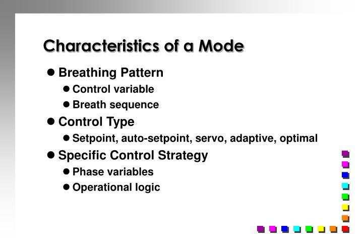 Characteristics of a Mode