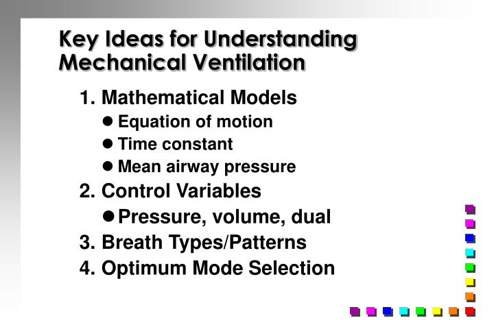 Key ideas for understanding mechanical ventilation