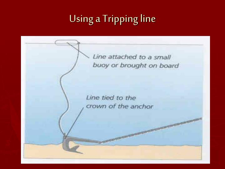 Using a Tripping line