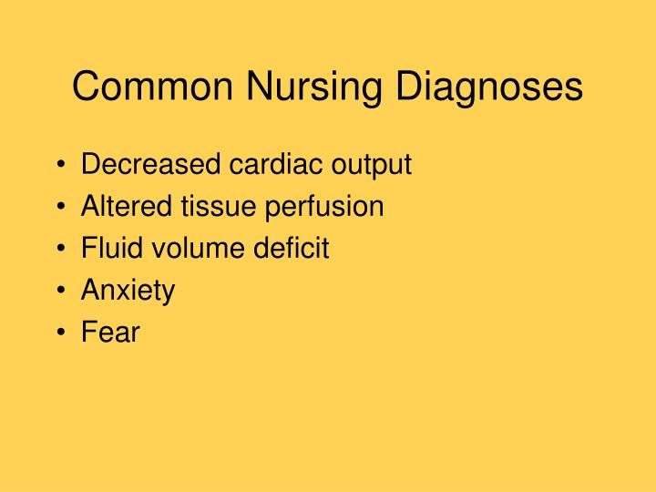 Common Nursing Diagnoses