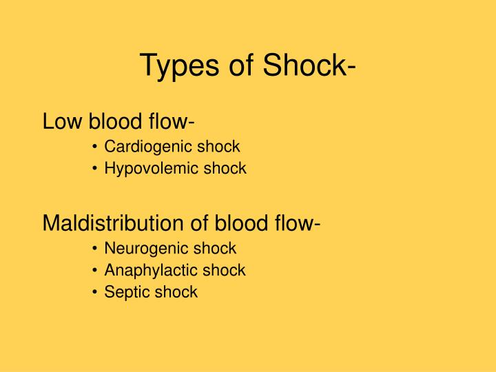 Types of Shock-