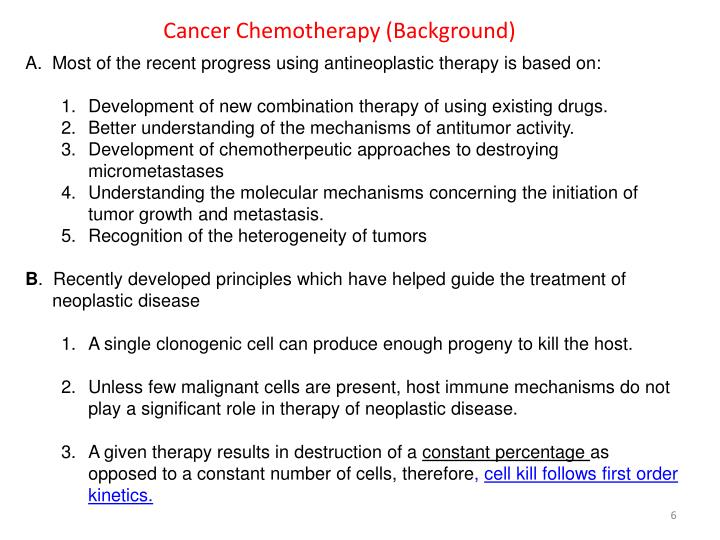 Cancer Chemotherapy (Background)