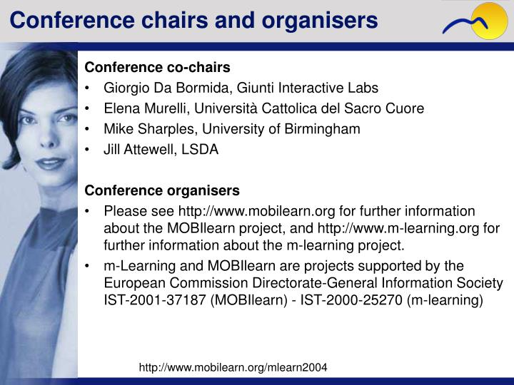 Conference chairs and organisers