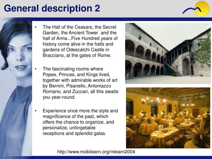 General description 2