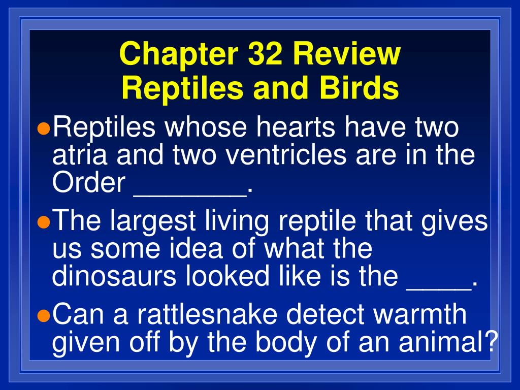 Chapter 32 Review