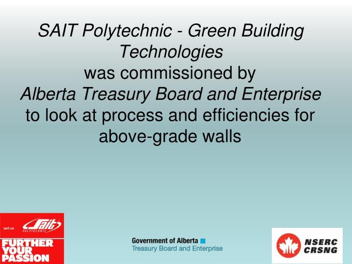 SAIT Polytechnic - Green Building Technologies