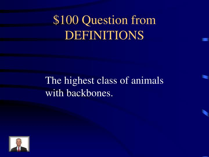 100 question from definitions