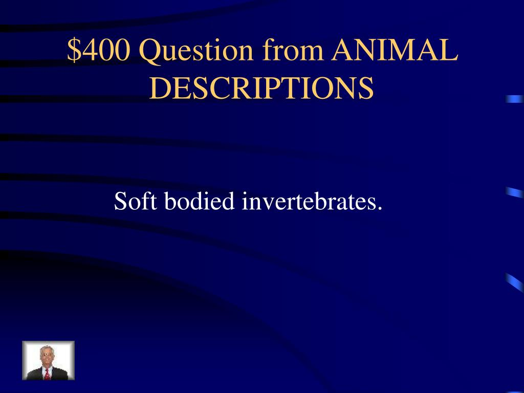 $400 Question from ANIMAL DESCRIPTIONS
