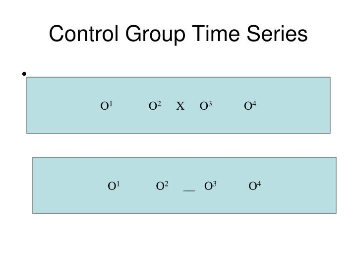 Control Group Time Series